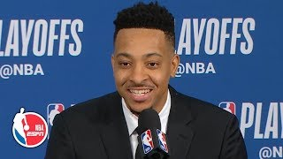 I didn't know he was gonna raise from 40 - CJ McCollum on Damian Lillard's shot | 2019 NBA Playoffs