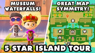 Animal crossing new horizons 5 star island tour! today we're visiting fox heart to check out sharayah's symmetrical layout and museum waterfalls! part 1 ► ht...