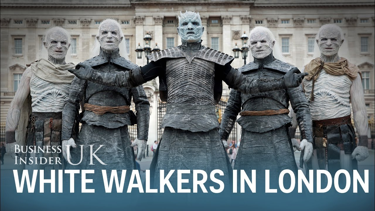 White Walkers Rode Into London On Horseback To Promote 'Game of Thrones'
