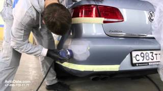 видео Локальная покраска детали автомобиля.