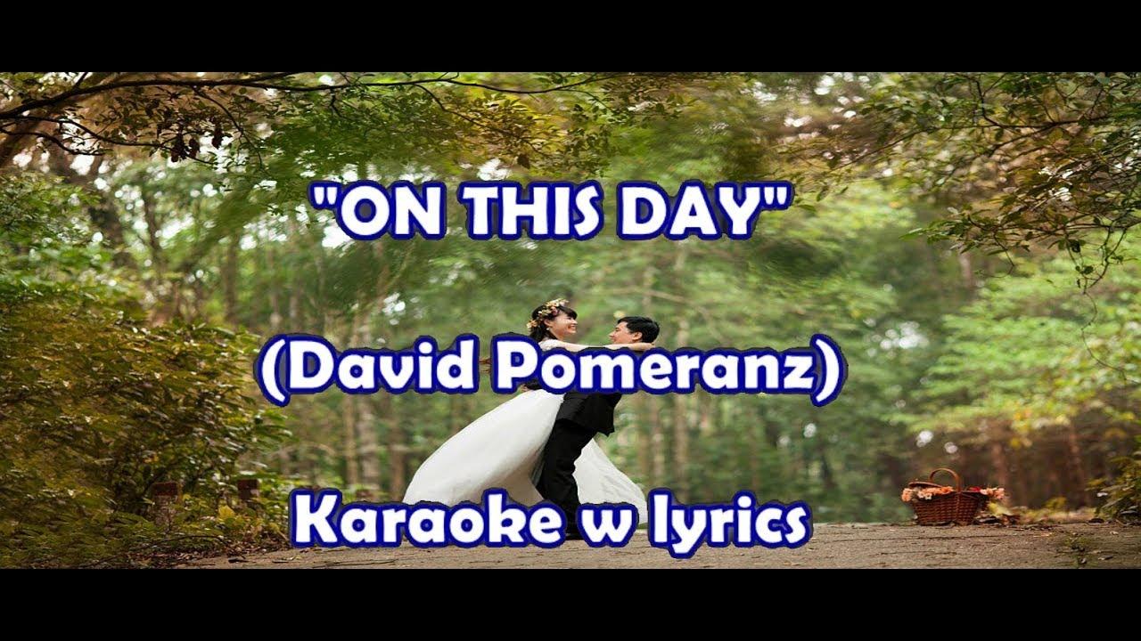 on this day instrumental david pomeranz