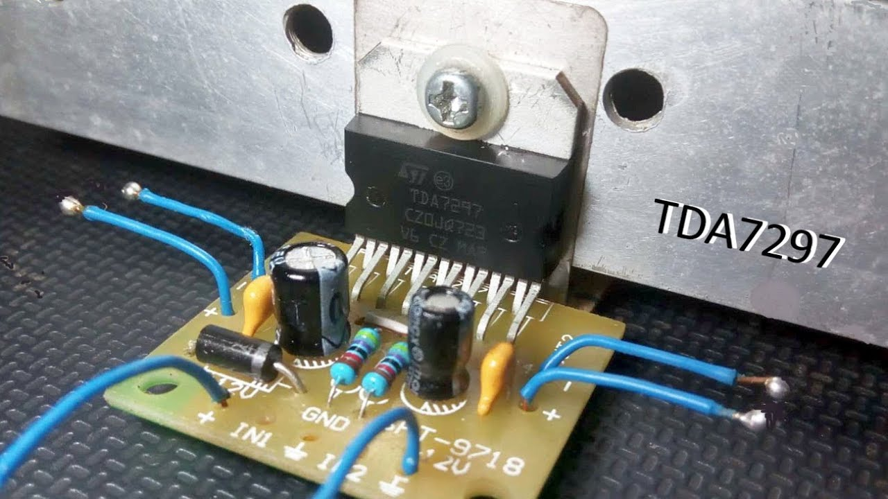 Tda7297 Diy Stereo Power Amplifier Devreler T Circuits Tda2002 8w Car Radio
