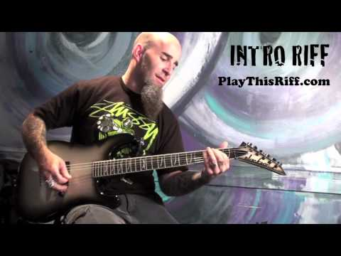 """ANTHRAX """"I Am The Law"""" Guitar Lesson for PlayThisRiff"""