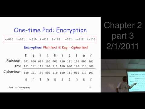 Chapter 2, part 3: Crypto Basics --- double transposition, one-time pad