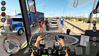 Bus Simulator : Ultimate - Coach bus driving in a long trip! IOS Android gameplay screenshot 3