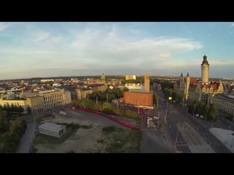Drone Flight Over Leipzig on a Sunday Morning