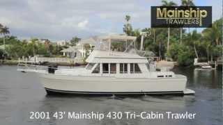 isola bella 43 mainship tri cabin trawler 2001