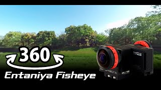 360 VR:Tachikawa Showa Kinen Park Birds:Entaniya Fisheye 250  for 1/2.3