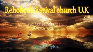 တနင်္ဂနွေနေ့ဝန်ဆောင်မှု Tamil, 01 November 2020 (Rehoboth Revival Church Tamil Tamil)