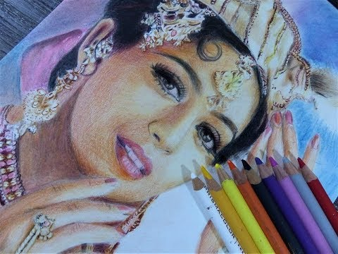 Drawing Madhuri Dixit (Bollywood star)