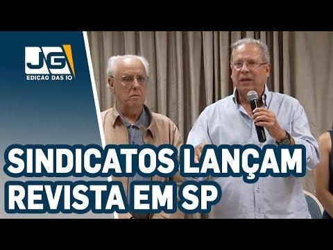 Com a participação de José Dirceu, condenado na Lava Jato, sindicatos lançam revista em SP