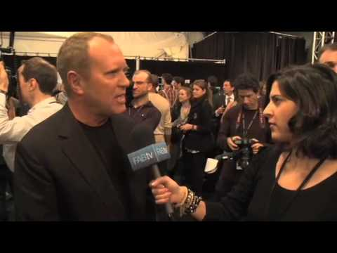 Michael Kors Interview Backstage at New York Fashion Week Fa