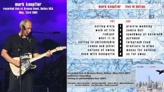 "Mark Knopfler ""Calling Elvis"" 2001 Dallas [AUDIO ONLY]"