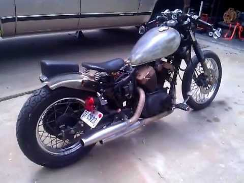 rat bobber yamaha route 66 xv 250 virago youtube. Black Bedroom Furniture Sets. Home Design Ideas