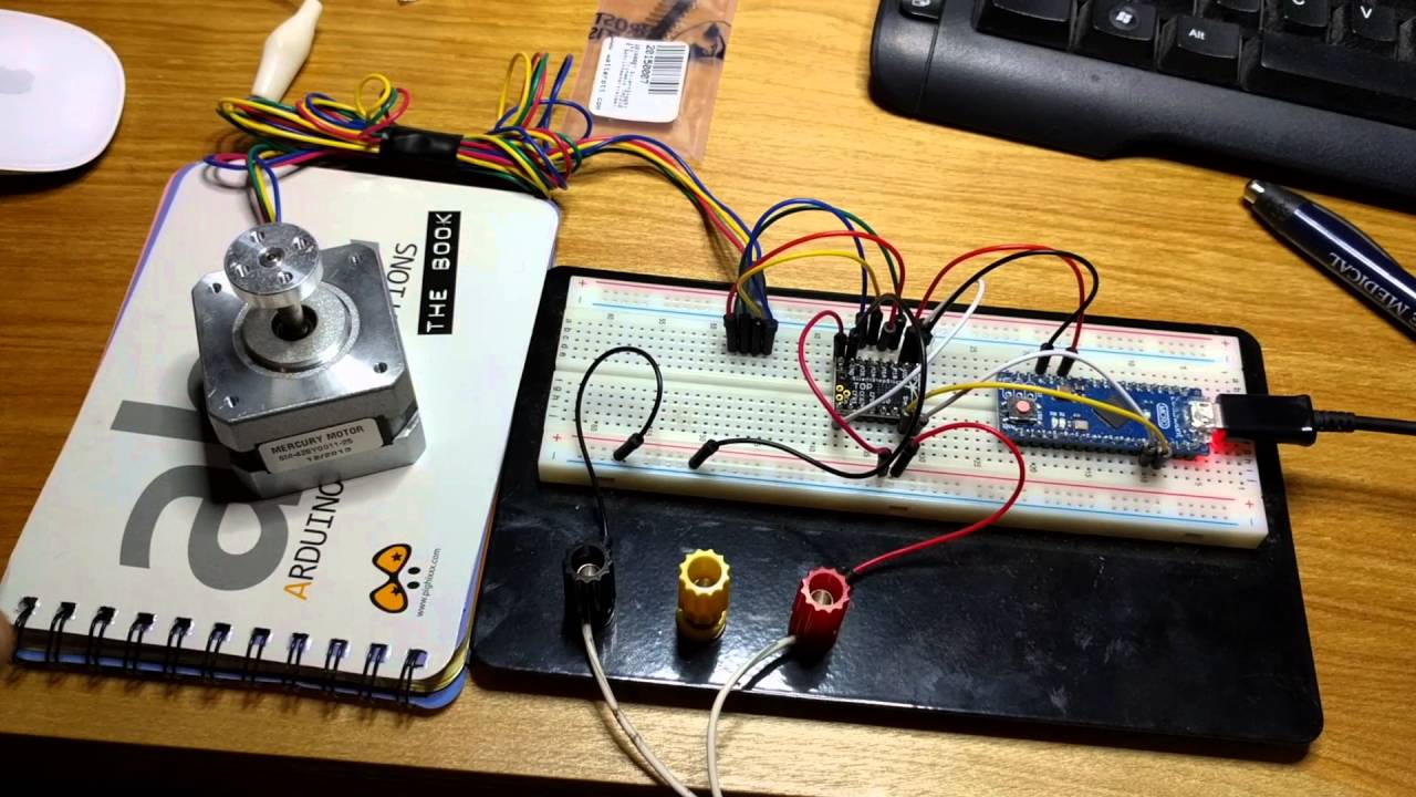 Silent Stepper Motor Control With Arduino Micro Youtube
