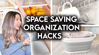 SMALL SPACE ORGANIZATION + STORAGE IDEAS | SPACE SAVING HACKS