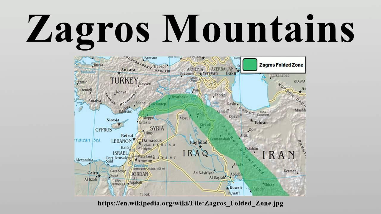World Zagros Mts Map
