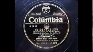 Emmy Bettendorf (1895 - 1963) piano : M.Raucheisen 78rpm / Columbia...