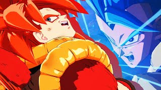 Gogeta (SS4) vs Gogeta (SSGSS) Dramatic Finish [ENG + JP] - DRAGON BALL FighterZ