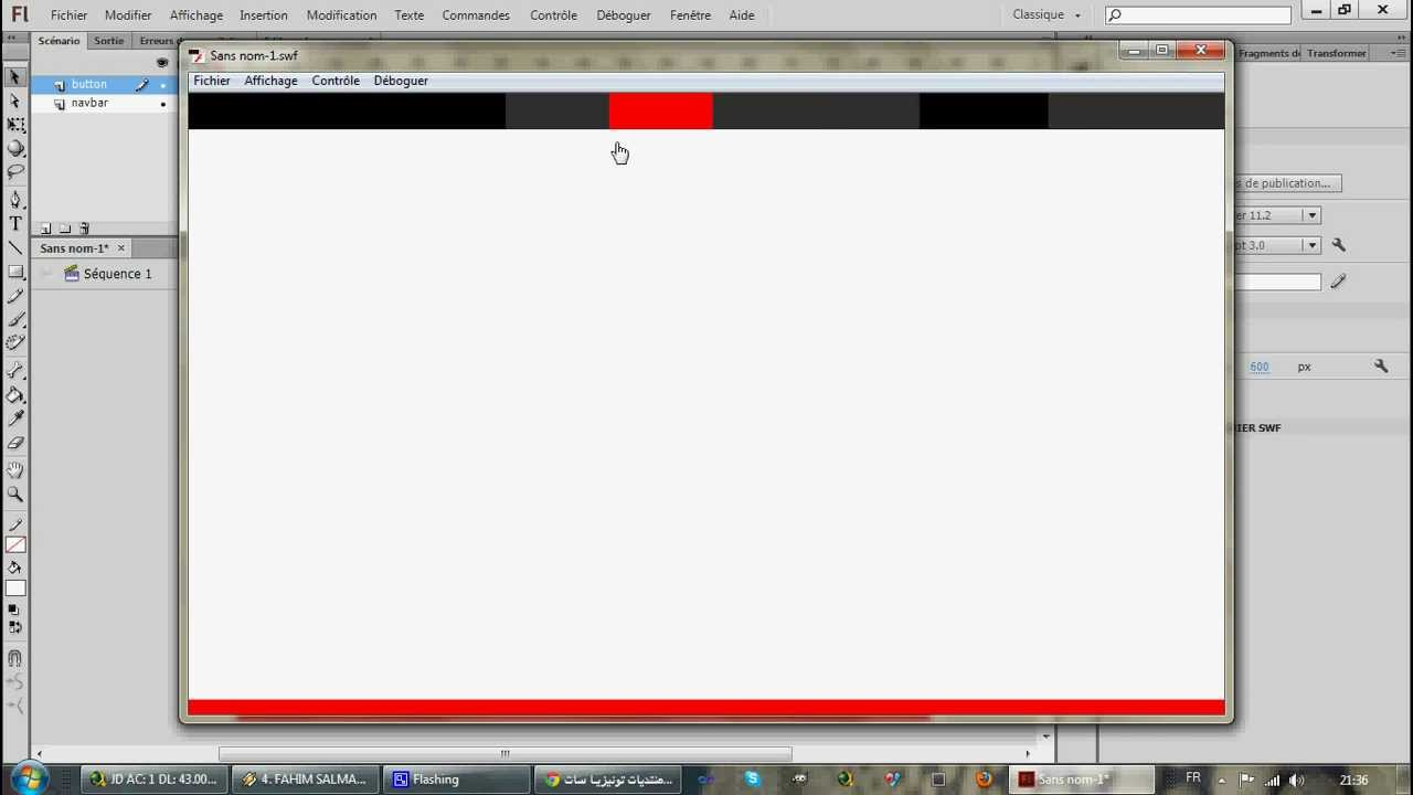 how to create a website in flash cs6