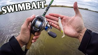 Spring Bank Fishing with a Paddle Tail Swimbait (Beast Coast Chaos-X Swimbait)