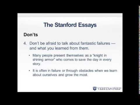 Write Like an Expert Stanford GSB Essays Analyses 2014/2015 Season