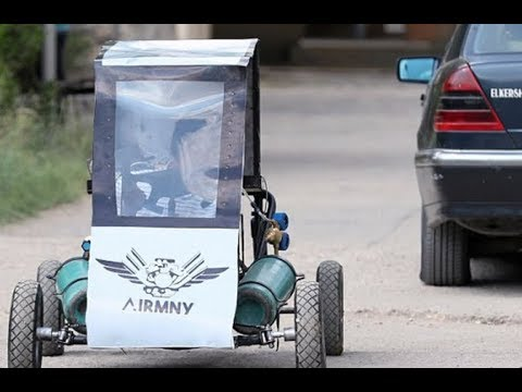 students have designed an incredible one-person go-kart that runs on compressed oxygen