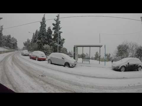 Snowtime in thessaloniki,Greece