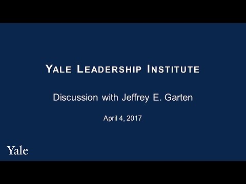 Yale Leadership Institute, April 4, 2017