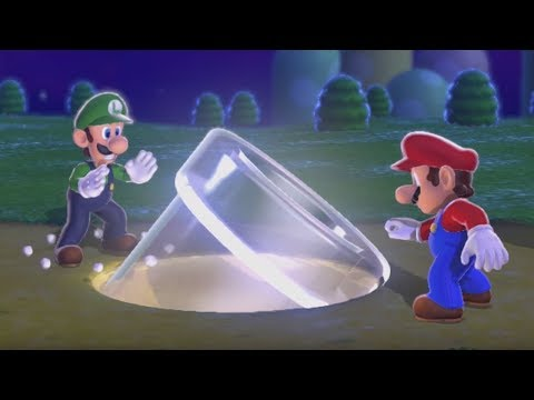 Super Mario 3D World 100% Walkthrough - World 1 (3 Players)