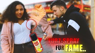 Für FAME mit FURZ-SPRAY EINSPRÜHEN !..😱| STREET COMEDY | Denizon