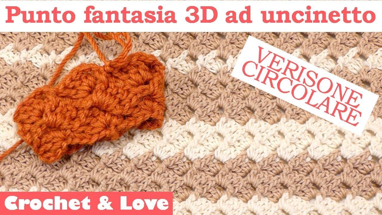 Tutorial Punto Fantasia 3d Ad Uncinetto Versione Circolare Youtube