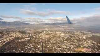 aterrizaje y despegue HD de la ciudad de Guatemala AEROPUERTO LA AURORA