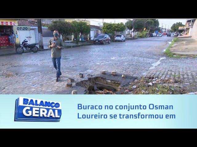 Sem solução: Buraco no conjunto Osman Loureiro se transformou em cratera
