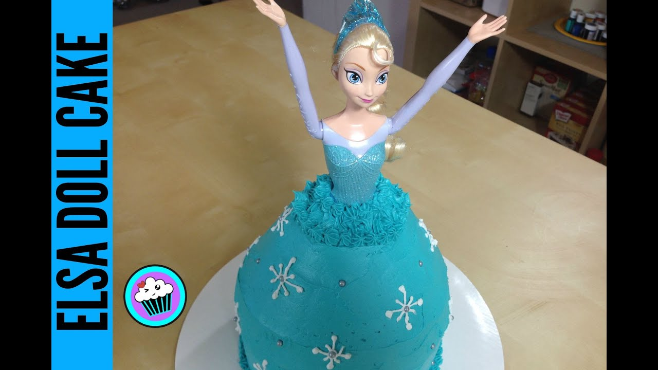 How to make Frozen Elsa Doll Cake Pinch of Luck YouTube