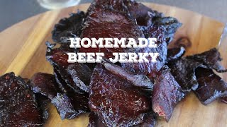 Homemade Beef Jerky  On the the Traeger Grill