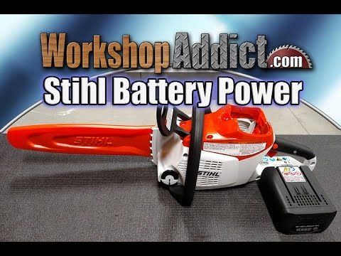 stihl msa 200 c battery operated chainsaw review youtube. Black Bedroom Furniture Sets. Home Design Ideas