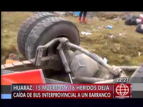 América Noticias: Huaraz: quince pasajeros murieron luego de que bus cayó a abismo de 300 metros