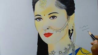Drawing of Anushka shetty