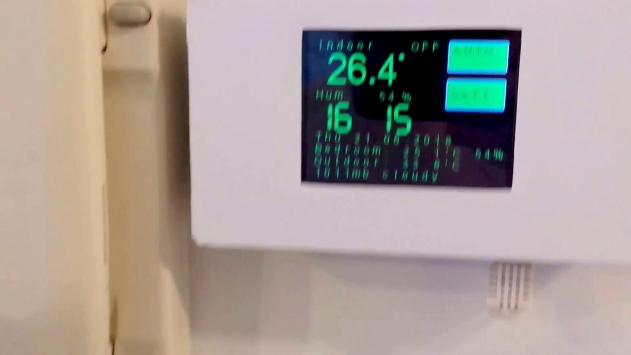 ESP8266 WiFi touch screen Arduino thermostat