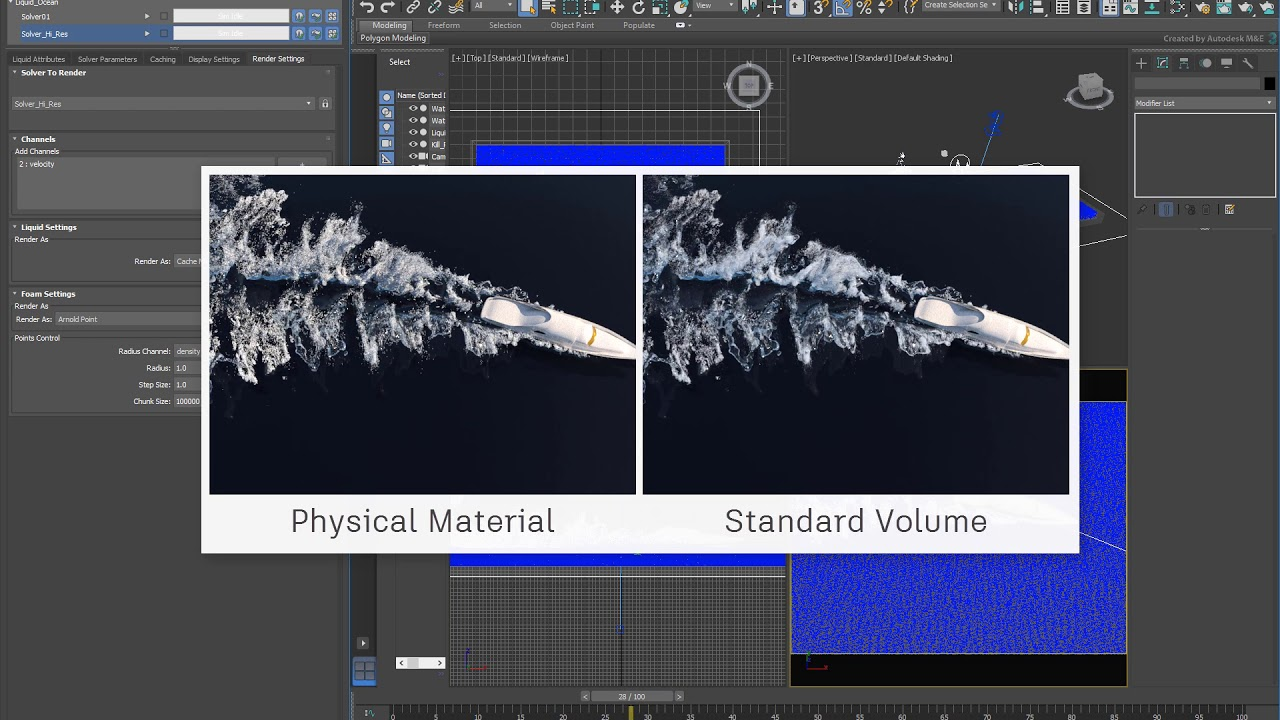 3ds Max Fluids Part 4 - Foam Rendering Techniques
