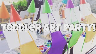 Toddler Art Party: Brice's 3rd Birthday!
