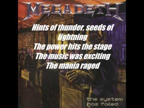 MegadethBack In The Day With Lyrics HD