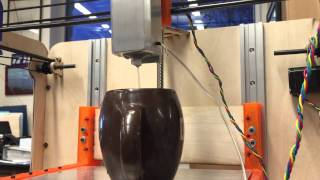 Cocoa Press - Chocolate 3D Printer Extruder Test (with Water)