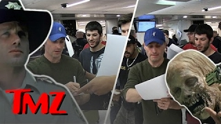 Andrew Lincoln Signs A Billion Autographs At LAX! | TMZ