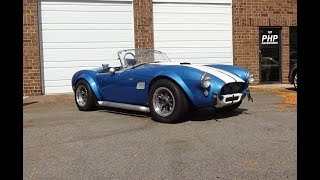 1964 Shelby AC Cobra in Blue & 289 Engine Sound OF A REAL ONE on My Car Story with Lou Costabile