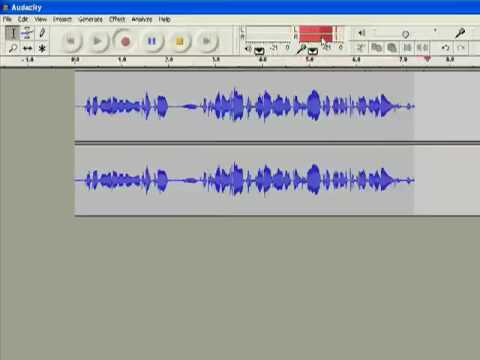 Using Audacity to Create Digital Audio