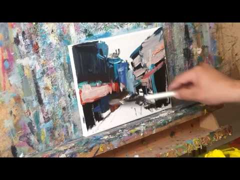 How to Paint China Town in Loose Brush Impressionistic Style by JOSE TRUJILLO