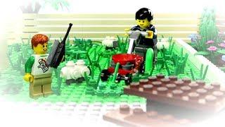 Lego Cutting Grass by FlyCam ! Lego ToysReview