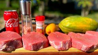 Steak Tenderizing Experiment/What's tнe best way to tenderize steaks?/2021